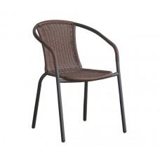 BALENO Armchair Brown Steel/Brown Wicker 1pcs