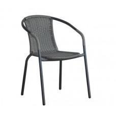 BALENO Armchair Steel Grey/Mixed Grey Wicker 1pcs