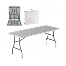 BLOW Catering Folding-In-Half Table 180x74 White 1pcs