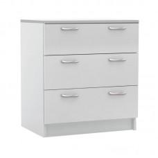 DECON Drawer Chest 60x44x68cm White 1pcs