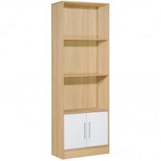 DECON Bookcase 60x29x180 Natural/Birch/White 1pcs