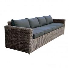 ARIZONA 4-Seat Grey/Brown Wicker (Cushions Anthracite) 1pcs