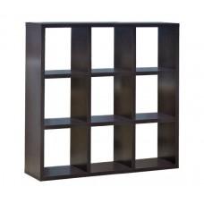 DECON Shelf Unit 9-Cells 117x39x117 Wenge 1pcs