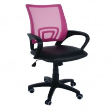BF2101 (with relax) Office Armchair Pink Mesh/Black Pu 1pcs