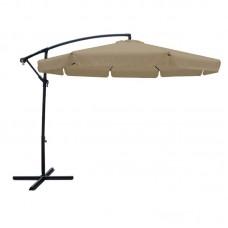 UMBRELLA HANGING D.300cm Alu Anthracite/Fabric Beige w/Metal Base 1pcs