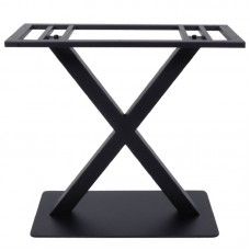 FERRO 70x40cm Steel Base H72cm Black 1pcs