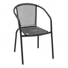 BALENO Armchair Steel Black/Textilene Grey 1pcs