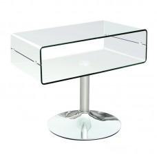 GLASSER Clear Tv Table 60x38x46 10mm Glass/Chromed Base 1pcs
